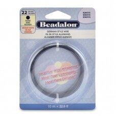 Beadalon® German Style apvali vielutė 22 Gauge/.025in/0.64mm Hematite (10m/32.8ft)