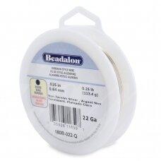Beadalon® German Style apvali vielutė 22 Gauge/.025in/0.64mm padengta sidabru (38m/125ft)
