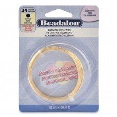 Beadalon® German Style apvali vielutė 24 Gauge/.020in/0.51mm aukso spalvos (12m/39ft)
