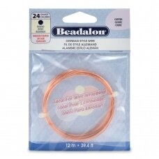 Beadalon® German Style apvali vielutė 24 Gauge/.020in/0.51mm vario spalvos (12m/39ft)