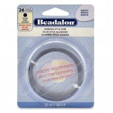 Beadalon® German Style apvali vielutė 26 Gauge/.016in/0.41mm Hematite (20m/65.6ft)