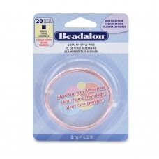 Beadalon® German Style kvadratinė vielutė 20 Gauge/.032in/0.81mm rausvo aukso spalvos (2m/6.5ft)
