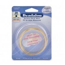 Beadalon® German Style kvadratinė vielutė 20 Gauge/.032in/0.81mm žalvario spalvos (2m/6.5ft)