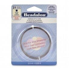 Beadalon® German Style kvadratinė vielutė 21 Gauge/.028in/0.72mm sendinto žalvario spalvos (2.5m/8ft)