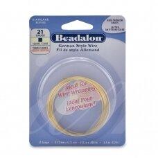 Beadalon® German Style kvadratinė vielutė 21 Gauge/.028in/0.72mm žalvario spalvos (2.5m/8ft)