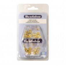 Beadalon® įvairios suspaudimo apsaugos 3mm 4mm aukso spalvos (80 vnt)