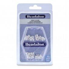Beadalon® įvairios suspaudimo apsaugos 3mm 4mm padengtos sidabru (80 vnt)