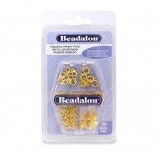 Beadalon® įvairių detalių rinkinys aukso spalvos (132 vnt)