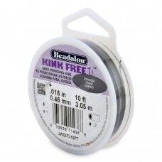 Beadalon® Kink Free™ titano spalvos vielutė karoliukų vėrimui .018in/0.46mm (3m/10ft)