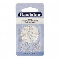 Beadalon® laikikliai maži (Small) 6.2mm padengti sidabru (36 vnt)
