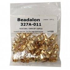 Beadalon® laikikliai vidutiniai (Medium) 10mm aukso spalvos (144 vnt)