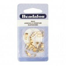 Beadalon® laikikliai vidutiniai (Medium) 10mm aukso spalvos (15 vnt)