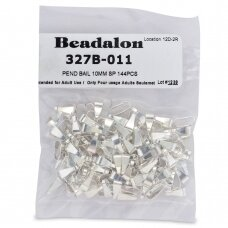 Beadalon® laikikliai vidutiniai (Medium) 10mm padengti sidabru (144 vnt)