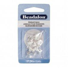 Beadalon® laikikliai vidutiniai (Medium) 10mm padengti sidabru (18 vnt)