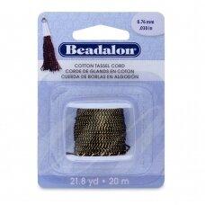 Beadalon® Cotton Tassel Cord .030in/0.76mm Metallic Gold on Black (20m/21.8yd)
