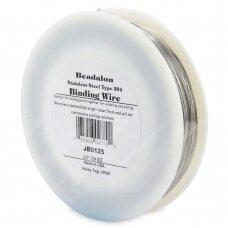 Beadalon® nerūdijančio plieno rišama vielutė 304 tipo .0125in/0.32mm (355m/1165ft)