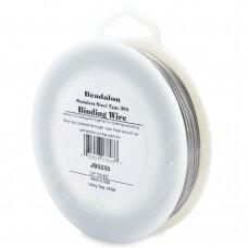 Beadalon® nerūdijančio plieno rišama vielutė 304 tipo .025in/0.63mm (90.5m/297ft)