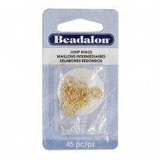 Beadalon® ovalūs atviri žiedeliai/kilputės 4.5x6mm aukso spalvos (45 vnt)