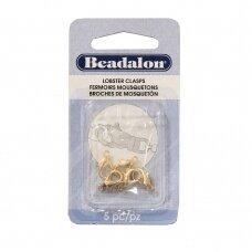 Beadalon® ovalūs užsegimai maži (Small) 12.8mm aukso spalvos (5 vnt)