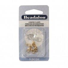Beadalon® ovalūs užsegimai ypač maži (X-Small) 9.7mm aukso spalvos (5 vnt)