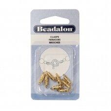 Beadalon® pailgos formos užsegimai maži (Small) 8mm aukso spalvos (8 vnt)
