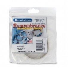 Beadalon® Remembrance™ nerūdijančio plieno vielutė su atmintimi apyrankėms (~ 19 ringių)