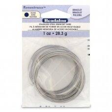 Beadalon® Remembrance™ nerūdijančio plieno vielutė su atmintimi apyrankėms (~ 75 ringės)