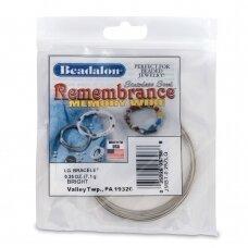 Beadalon® Remembrance™ nerūdijančio plieno vielutė su atmintimi didelėms apyrankėms (~ 15 ringių)