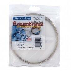 Beadalon® Remembrance™ nerūdijančio plieno vielutė su atmintimi dideliems vėriniams (~ 33 ringės)