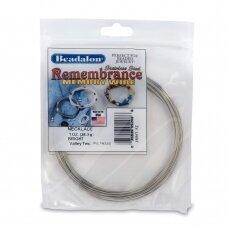 Beadalon® Remembrance™ nerūdijančio plieno vielutė su atmintimi vėriniams (~ 36 ringės)
