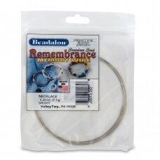 Beadalon® Remembrance™ nerūdijančio plieno vielutė su atmintimi vėriniams (~ 9 ringės)