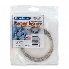 Beadalon® Remembrance™ nerūdijančio plieno vielutė su atmintimi X didelėms apyrankėms (~ 52 ringės)