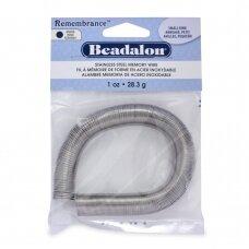 Beadalon® Remembrance™ nerūdijančio plieno vielutė su atmintimi žiedams (~ 195 ringės)