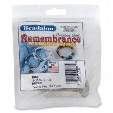 Beadalon® Remembrance™ nerūdijančio plieno vielutė su atmintimi žiedams (~ 49 ringės)