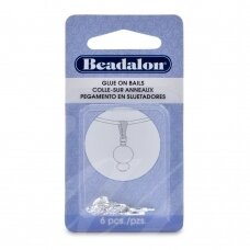 Beadalon® ruošiniai klijavimui maži (Small) 6x11mm padengti sidabru (6 vnt)