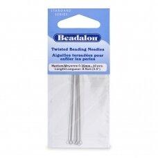 Beadalon® suktos adatos vidutinio dydžio (Medium) 8.9cm ilgis (10 vnt)