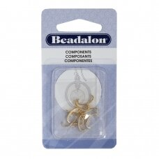 Beadalon® suspaudžiami laikikliai 10mm aukso spalvos (8 vnt)