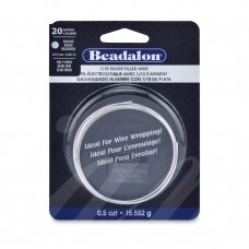 Beadalon® užpildyta sidabru vielutė pusiau kieta 20 Gauge/.032in/0.81mm (3.5m/11ft)