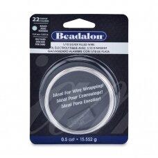 Beadalon® užpildyta sidabru vielutė pusiau kieta 22 Gauge/.025in/0.64mm (5.6m/18.5ft)