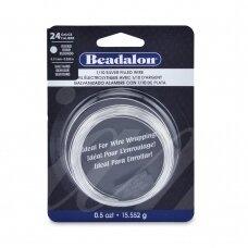 Beadalon® užpildyta sidabru vielutė pusiau kieta 24 Gauge/.020in/0.51mm (8.6m/28.5ft)