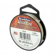 Beadalon® WildFire® siūlas karoliukų vėrimui .006in/0.15mm Beige (rusvas) (18m/20yd)
