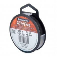 Beadalon® WildFire® siūlas karoliukų vėrimui .006in/0.15mm Black (juodas) (45m/50yd)