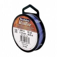 Beadalon® WildFire® siūlas karoliukų vėrimui .006in/0.15mm Blue (mėlynas) (45m/50yd)