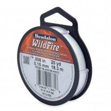 Beadalon® WildFire® siūlas karoliukų vėrimui .006in/0.15mm Frost (18m/20yd)