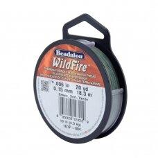 Beadalon® WildFire® siūlas karoliukų vėrimui .006in/0.15mm Green (18m/20yd)