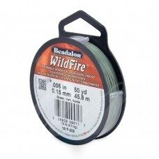 Beadalon® WildFire® siūlas karoliukų vėrimui .006in/0.15mm Green (žalias) (45m/50yd)