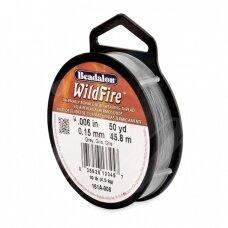 Beadalon® WildFire® siūlas karoliukų vėrimui .006in/0.15mm Grey (pilkas) (45m/50yd)
