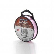 Beadalon® WildFire® siūlas karoliukų vėrimui .006in/0.15mm Pink (rožinis) (18m/20yd)