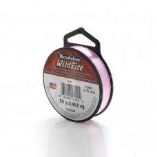 Beadalon® WildFire® siūlas karoliukų vėrimui .006in/0.15mm Pink (rožinis) (45m/50yd)