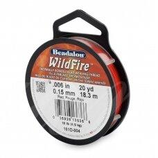 Beadalon® WildFire® siūlas karoliukų vėrimui .006in/0.15mm Red (raudonas) (18m/20yd)